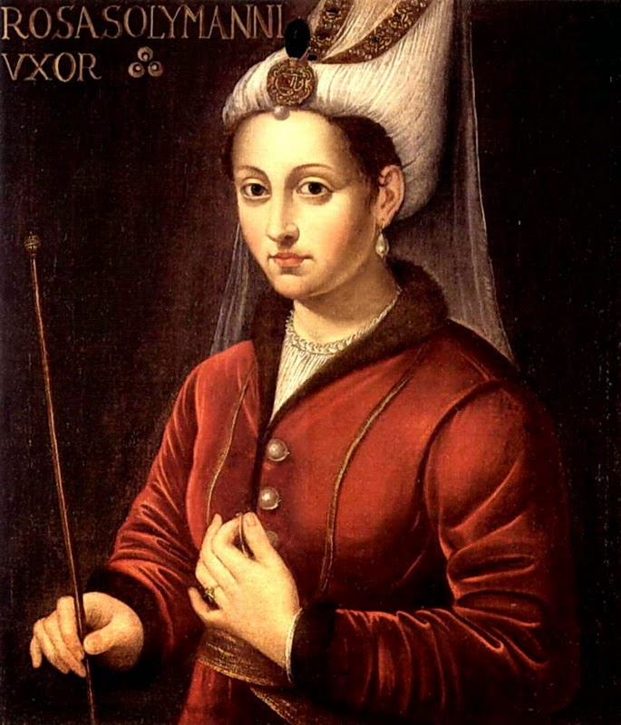 Portrait of Hürrem Sultan, former slave and wife of Ottoman ruler Süleyman the Magnificent